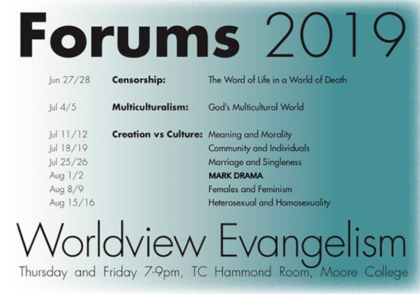 Forums 2019 Worldview Evangelism | Phillip Jensen