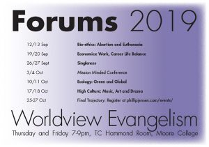 Forums 2019 Worldview Evangelism